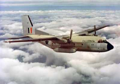 The Transall C-160 in its delivery colour scheme