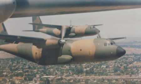 The Transall C-160 in its operational colour scheme